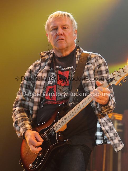 Alex Lifeson of the Canadian classic rock band RUSH performs at the 1st Mariner Arena in Baltimore, Maryland April 22, 2011. .Copyright EML/Rockinexposures.com.