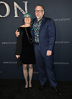Jeff VanderMeer &amp; Ann VanderMeer at the premiere for &quot;Annihilation&quot; at the Regency Village Theatre, Los Angeles, USA 13 Feb. 2018<br /> Picture: Paul Smith/Featureflash/SilverHub 0208 004 5359 sales@silverhubmedia.com