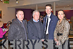 KERRY FILM FESTIVAL: Attending the Kerry Film Festival awards ceremony at Siamsa Tire, Tralee on Saturday l-r: Paul and Kevin Woods and Peter and Anne Harty, Tralee...
