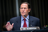 """United States Senator Richard Blumenthal (Democrat of Connecticut), speaks during the Senate Judiciary Committee hearing titled """"Examining Best Practices for Incarceration and Detention During COVID-19,"""" in Dirksen Building in Washington, D.C. on Tuesday, June 2, 2020.<br /> Credit: Tom Williams / Pool via CNP/AdMedia"""