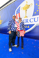 USA fans from Colombus Ohio during Tartan Tuesday's Practice day of the Ryder Cup 2014 played on the PGA Centenary Course at the Gleneagles Hotel, Auchterarder, Scotland.: Picture Eoin Clarke, www.golffile.ie: 23rd September 2014