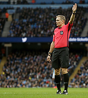 Referee Graham Scott<br /> <br /> Photographer Rich Linley/CameraSport<br /> <br /> Emirates FA Cup Fourth Round - Manchester City v Burnley - Saturday 26th January 2019 - The Etihad - Manchester<br />  <br /> World Copyright © 2019 CameraSport. All rights reserved. 43 Linden Ave. Countesthorpe. Leicester. England. LE8 5PG - Tel: +44 (0) 116 277 4147 - admin@camerasport.com - www.camerasport.com