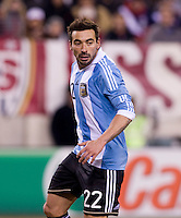 Ezequiel Lavezzi. The USMNT tied Argentina, 1-1, at the New Meadowlands Stadium in East Rutherford, NJ.