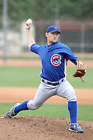 Austin Bibens-Dirkx of the Chicago Cubs participates in intrasquad spring training games at the Cubs complex on March 21, 2011  in Mesa, Arizona. .Photo by:  Bill Mitchell/Four Seam Images.