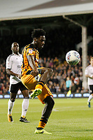 Ola Aina of Hull City (on loan from Chelsea) in action during the Sky Bet Championship match between Fulham and Hull City at Craven Cottage, London, England on 13 September 2017. Photo by Carlton Myrie.