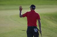 Applause for Ross Fisher (ENG) as he approaches the last needing just a par for outright lead of Round Two of The Tshwane Open 2014 at the Els (Copperleaf) Golf Club, City of Tshwane, Pretoria, South Africa. Picture:  David Lloyd / www.golffile.ie