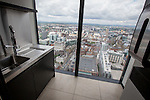 © Joel Goodman - 07973 332324 . 24 June 2013 . Orchid Suite , Beetham Tower , Manchester , UK . Utility room . Former triplex apartment home of Phil and Julie Neville , which is up for rent and thought to be the most expensive in Manchester . Photo credit : Joel Goodman