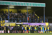 Haringey players applaud the fans at the end of the match during Haringey Borough vs AFC Wimbledon, Emirates FA Cup Football at Coles Park Stadium on 9th November 2018