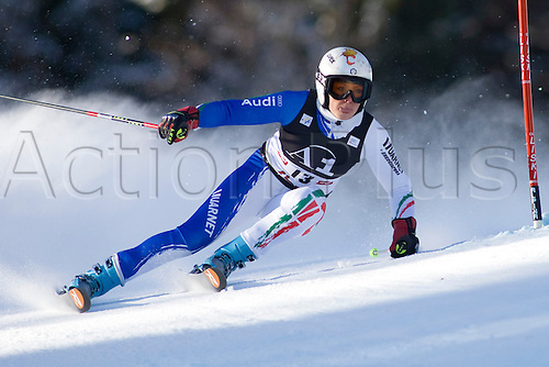 LIENZ, AUSTRIA 28 December 2009. Federica Brignone ITA speeds down the course while competing in the first run of the women's Audi FIS Alpine Skiing World Cup giant slalom race.
