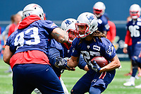 June 7, 2018: New England Patriots corner back Ryan Lewis (27) runs a drill  at the team's mini camp held on the practice fields at Gillette Stadium, in Foxborough, Massachusetts. Eric Canha/CSM