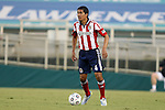 12 June 2013: Chivas USA's Walter Vilchez Soto (PER). The North American Soccer League's Carolina RailHawks hosted Major League Soccer's CD Chivas USA at WakeMed Stadium in Cary, NC in a 2013 Lamar Hunt U.S. Open Cup fourth round game. Carolina won the game 3-1 after extra time.
