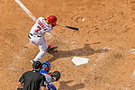 30 April 2017: Washington Nationals infielder Trea Turner at bat in the 6th inning against the New York Mets at Nationals Park in Washington, DC. The Nationals defeated the Mets 23-5, with the Nationals setting several individual and team records, in the third game of their weekend series. Mandatory Credit: Ed Wolfstein Photo *** RAW (NEF) Image File Available ***