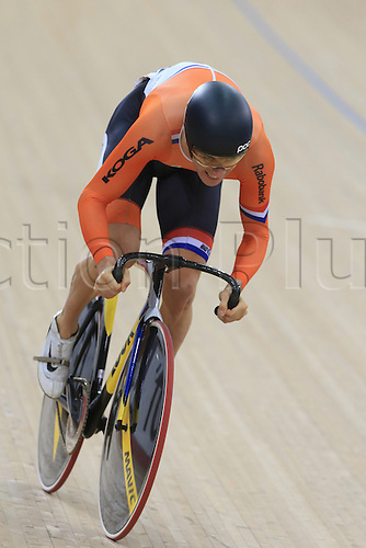 04.03.2016. Lee valley Velo Centre. London England. UCI Track Cycling World Championships Mens sprint qualifications races.   BOS Theo (NED)