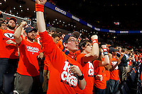 Virginia fans react during the game Saturday, February 22, 2014,  in Charlottesville, VA. Virginia won 70-49.