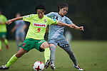 (L to R) <br /> Minori Wakabayashi (JEF Ladies), <br /> Yui Hasegawa (Beleza), <br /> SEPTEMBER 17, 2017 - Football / Soccer : <br /> 2017 Plenus Nadeshiko League Division 1 match <br /> between JEF United Ichihara Chiba Ladies 0-1 NTV Beleza <br /> at Frontier Soccer Field in Chiba, Japan. <br /> (Photo by AFLO SPORT)