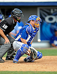 15 March 2008: Los Angeles Dodgers' catcher Gary Bennett makes the stop during a Spring Training game against the Washington Nationals at Space Coast Stadium, in Viera, Florida...Mandatory Photo Credit: Ed Wolfstein Photo