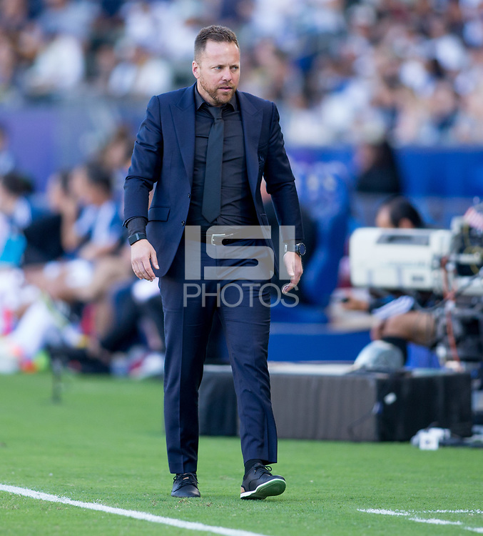 CARSON, CA - SEPTEMBER 29: Manager Marc Dos Santos of the Vancouver Whitecaps walks the sideline during a game between Vancouver Whitecaps and Los Angeles Galaxy at Dignity Health Sports Park on September 29, 2019 in Carson, California.