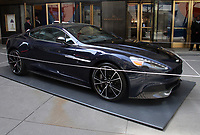 NEW YORK, NY - APRIL 13: Daniel Craig's Aston Martin Vanquish set for auction at Christie's to benefit The Opportunity Network on April 13, 2018 in New York City. <br /> CAP/MPI/RW<br /> &copy;RW/MPI/Capital Pictures