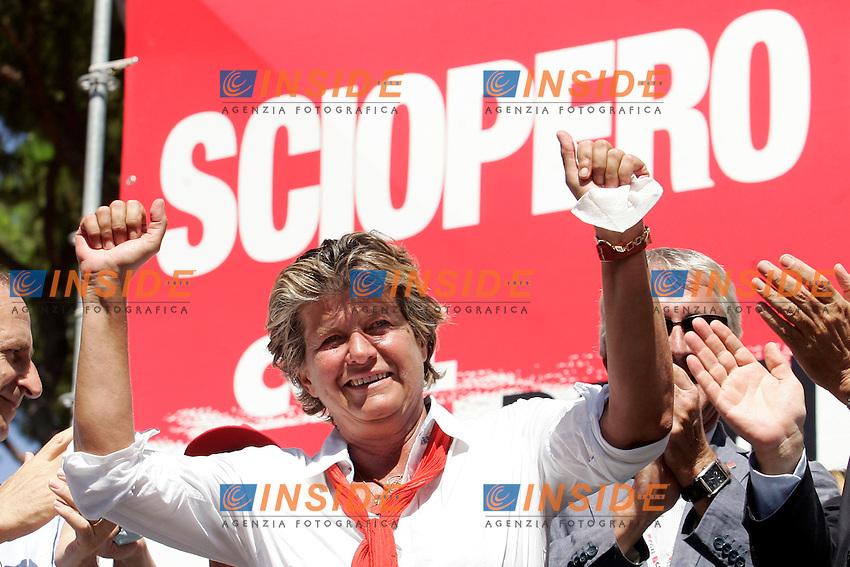 IL SEGRETARIO NAZIONALE DELLA CGIL SUSANNA CAMUSSO..Roma 06/09/2011 Manifestazione della CGIL contro la Manovra Finanziaria...Photo Samantha Zucchi Insidefoto