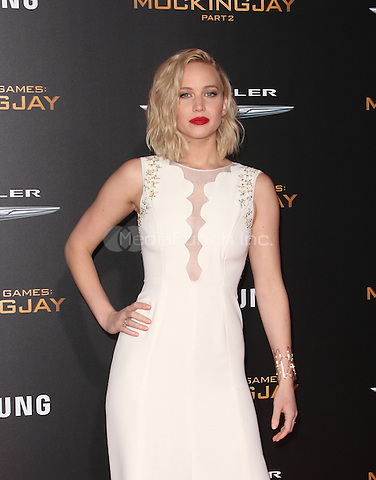 "Los Angeles, CA - November 16  Jennifer Lawrence Attending Premiere Of Lionsgate's ""The Hunger Games: Mockingjay - Part 2"" At Microsoft Theater On November 16, 2015. Photo Credit: Faye Sadou / MediaPunch"