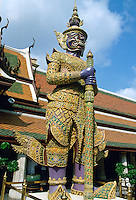 Buddha Statue outside the Temple of the Emperor, Bangkok, Thailand