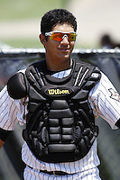 July 11, 2009:  Catcher Ernesto Genoves (38) of the GCL Astros during a game at Osceola County Complex in Kissimmee, FL.  The GCL Astros are the Gulf Coast Rookie League affiliate of the Houston Astros.  Photo By Mike Janes/Four Seam Images