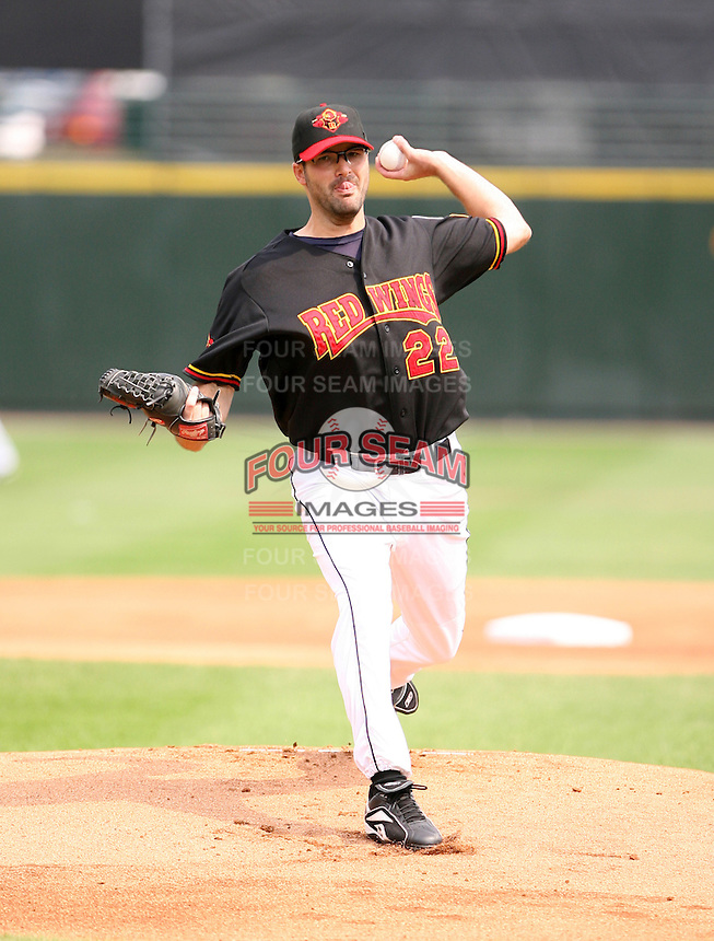 2007:  Dave Gassner of the Rochester Red Wings, Class-AAA affiliate of the Minnesota Twins, during the International League baseball season.  Photo By Mike Janes/Four Seam Images
