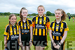 At the 4th annual Sandra Keane u/13 ladies football blitz in the John Mitchels sports complex on Saturday were Casey Ryle, Rachel Byrne,Katie Corkery, Ciara Byrne from Abbeydorney Ladies