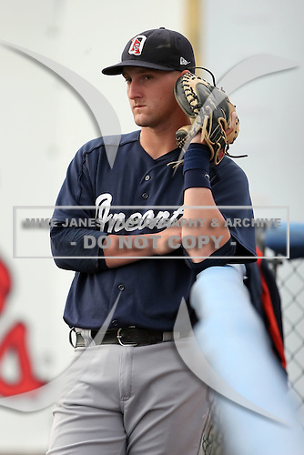 July 23 2008:  Catcher Joe Bowen of the Oneonta Tigers, Class-A affiliate of the Detroit Tigers, during a game at Dwyer Stadium in Batavia, NY.  Photo by:  Mike Janes/Four Seam Images
