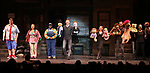 Current cast during the 'Avenue Q'  15th Anniversary Celebration matinee with Original Cast Members at the New World Stages on July 28, 2018 in New York City.