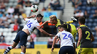 Preston North End's Andrew Hughes battles with Southampton's Christophe Klarer<br /> <br /> Photographer Stephen White/CameraSport<br /> <br /> Football Pre-Season Friendly - Preston North End v Southampton - Saturday July 20th 2019 - Deepdale Stadium - Preston<br /> <br /> World Copyright © 2019 CameraSport. All rights reserved. 43 Linden Ave. Countesthorpe. Leicester. England. LE8 5PG - Tel: +44 (0) 116 277 4147 - admin@camerasport.com - www.camerasport.com
