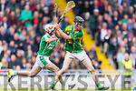 Colman Savage Kilmoyley in action against  Ballyduff in the County Senior Hurling Final at Austin Stack Park on Sunday.