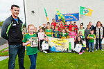 Leah Carmody Benefit Fund: Kerry footballer Shane Enright & Ciar Carmody, cousin of Leah pictured with a group of young Tarbert people to announce the upcoming benefit night to be held in Carmody's Bar, Tarbert on Friday night October 2nd.