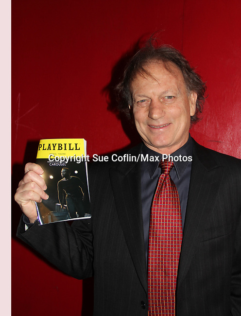 Justin Deas - Guiding Light and As The World Turns' attends opening night of Broadway's Carousel as his wife (Margaret Colin) stars as Mrs. Mullin in the show on April 12, 2018 at the Imperial Theatre, New York City.  (Photo by Sue Coflin/Max Photo)