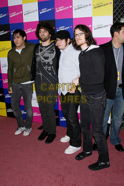 PETE WENTZ & FALL OUT BOY.Attending the T-Mobile Sidekick iD Launch, .held at the T-Mobile Sidekick Lot,  Los Angeles, California, USA,13 April 2007..full length band music group.CAP/ADM/ZL.©Zach Lipp/AdMedia/Capital Pictures.