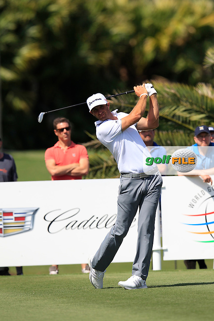 Dustin Johnson (USA) during the 1st round at the WGC Cadillac Championship, Blue Monster, Trump National Doral, Doral, Florida, USA<br /> Picture: Fran Caffrey / Golffile