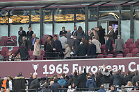 The board leave there seats early during West Ham United vs Burnley, Premier League Football at The London Stadium on 10th March 2018