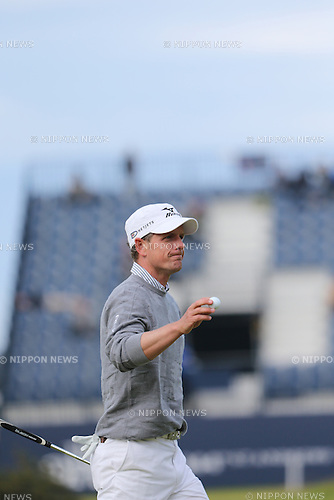 Luke Donald (ENG), JULY 19, 2015 - Golf : Luke Donald of England in action on the 17th hole<br /> during the third round of the 144th British Open Championship at the Old Course, St Andrews in Fife, Scotland. (Photo by Koji Aoki/AFLO SPORT)