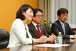 Tamayo Marukawa, <br />  OCTOBER 18, 2016 :<br /> International Olympic Committee (IOC) president Thomas Bach meets<br /> Tamayo Marukawa Olympic and Paralympic Minister in Tokyo.<br /> (Photo by Sho Tamura/AFLO SPORT)