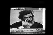 Paris, France.December 14, 2004..TV images of the capture of Saddam Hussein.