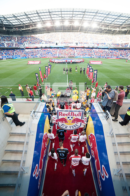 HARRISON, NJ - Sunday May 10, 2015: The New York Red Bulls take on cross-town rivals New York City FC in the first ever meeting of the two teams at Red Bull Arena in the MLS regular season.