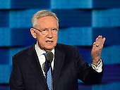 United States Senate Democratic Leader Harry Reid (Democrat of Nevada) makes remarks during the third session of the 2016 Democratic National Convention at the Wells Fargo Center in Philadelphia, Pennsylvania on Wednesday, July 27, 2016.<br /> Credit: Ron Sachs / CNP<br /> (RESTRICTION: NO New York or New Jersey Newspapers or newspapers within a 75 mile radius of New York City)