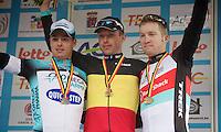 Belgian Championchips 2013<br /> <br /> 1/ Stijn Devolder (BEL)<br /> 2/ Gianni Meersman (BEL)<br /> 3/ Jan Bakelants (BEL)