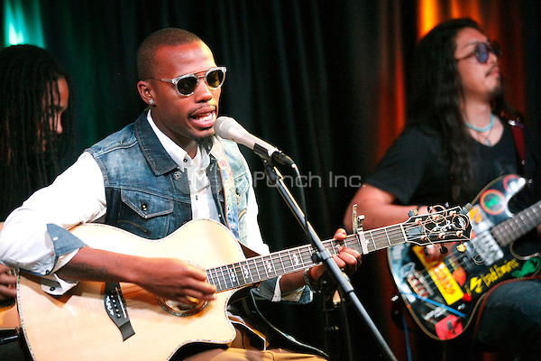 B.O.B visits Q 102 iHeart Radio Performance Theater in Bala Cynwyd, Pa on April 19, 2012 © Star Shooter / MediaPunchInc