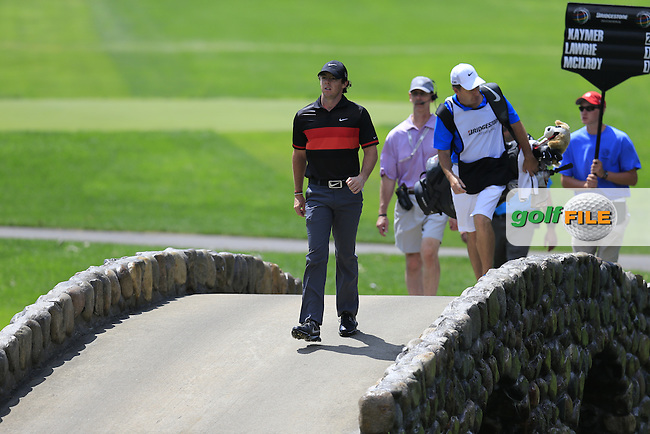 Rory McIlroy (NIR) walks to the 3rd green during Saturday's Round 3 of the 2013 Bridgestone Invitational WGC tournament held at the Firestone Country Club, Akron, Ohio. 3rd August 2013.<br /> Picture: Eoin Clarke www.golffile.ie