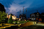 Lightning lights up the clouds above Clifton Heights Pennsylvania during a storm in July 2009