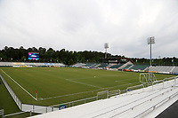 Cary, North Carolina  - Wednesday May 24, 2017: View from the northeast corner of Sahlen's Stadium prior to a regular season National Women's Soccer League (NWSL) match between the North Carolina Courage and the Sky Blue FC at Sahlen's Stadium at WakeMed Soccer Park. The Courage won the game 2-0.