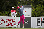 Golfer Panpan Yan of China during the 2017 Hong Kong Ladies Open on June 9, 2017 in Hong Kong, China. Photo by Chris Wong / Power Sport Images