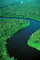 River winding in Tropical Rain Forest in Para, Brazil