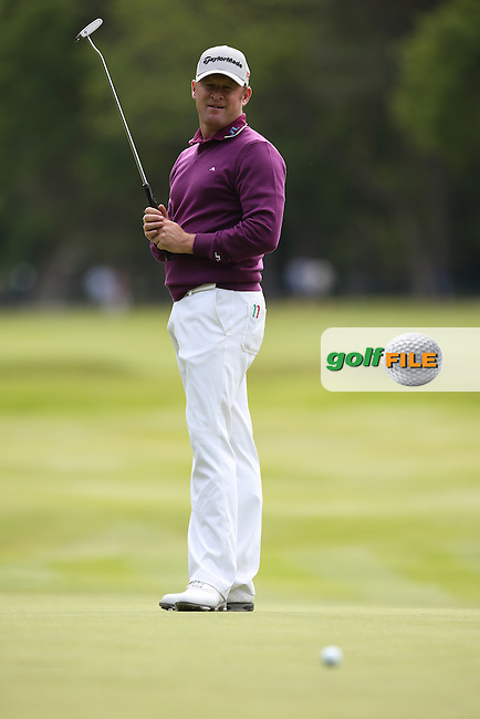 Jamie Donaldson (WAL) during Round Two of the 2015 BMW PGA Championship over the West Course at Wentworth, Virginia Water, London. 22/05/2015Picture David Lloyd, www.golffile.ie.